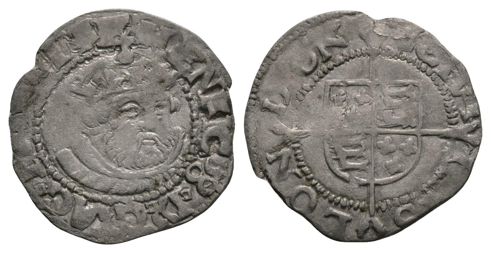 English Tudor Coins - Edward VI (in name of Henry VIII) - Southwark - Facing Bust Halfgroat