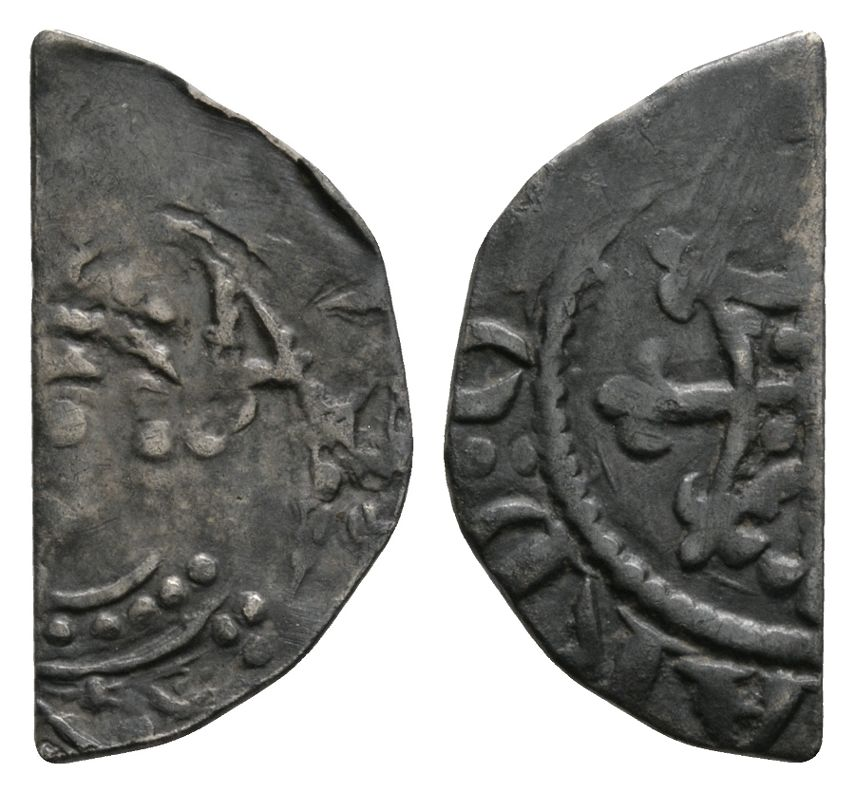 Norman Coins - Henry I - Quadrilateral on Fleury Cut Halfpenny