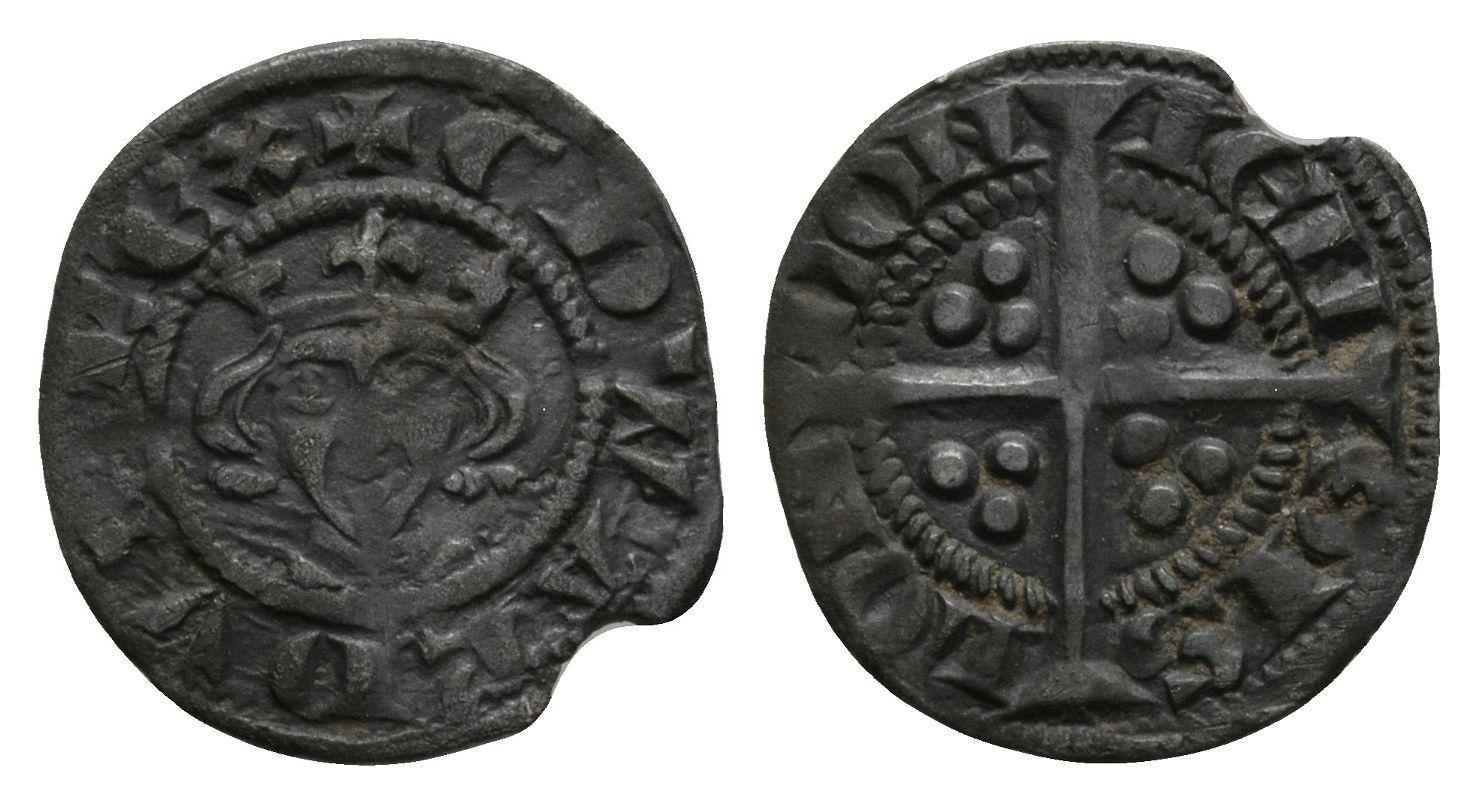 English Medieval Coins - Edward I - London - Long Cross Farthing