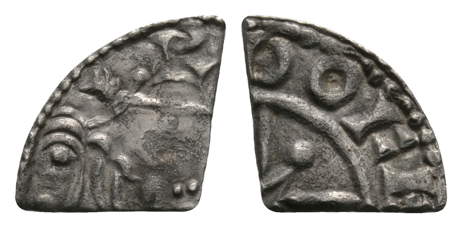 Anglo-Saxon Coins - Harthacnut (in name of Cnut) - Dover / Boga - Arm and Sceptre Cut Farthing