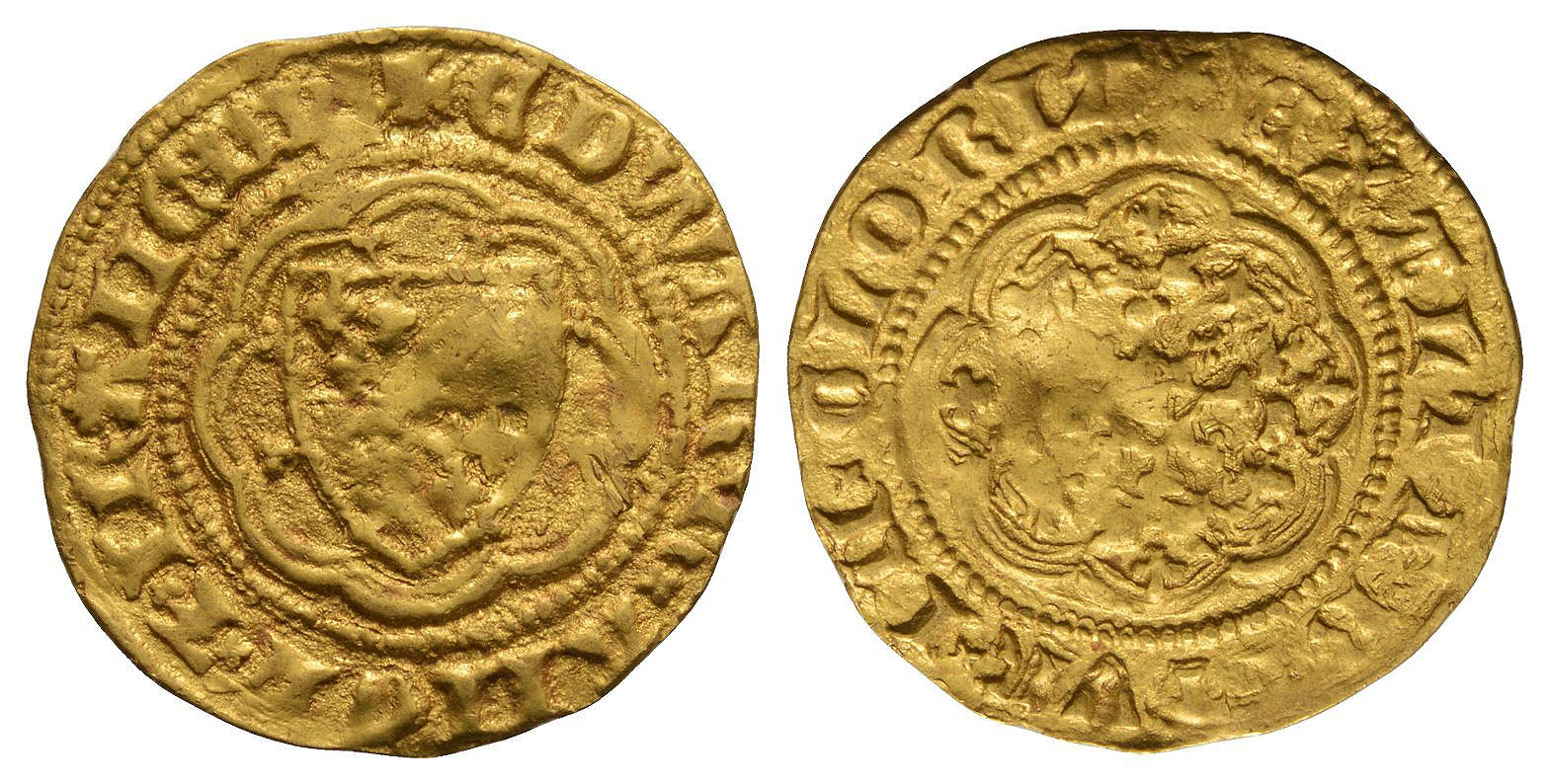 English Medieval Coins - Edward III - Pre Treaty Gold Quarter Noble