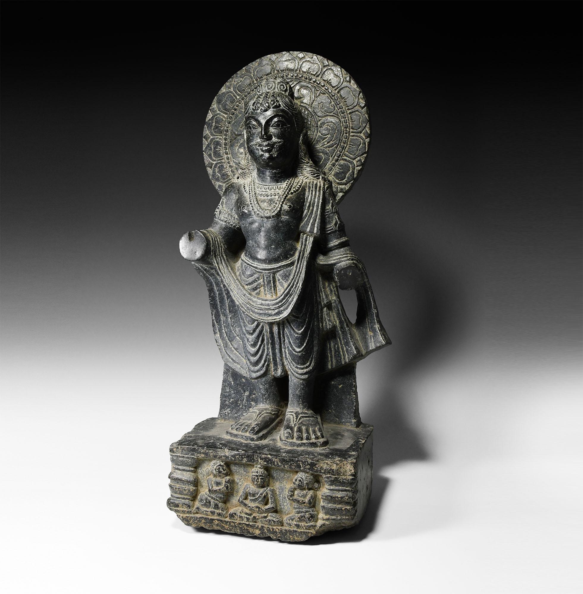Gandharan Bodhisattva with Lotus Aureole