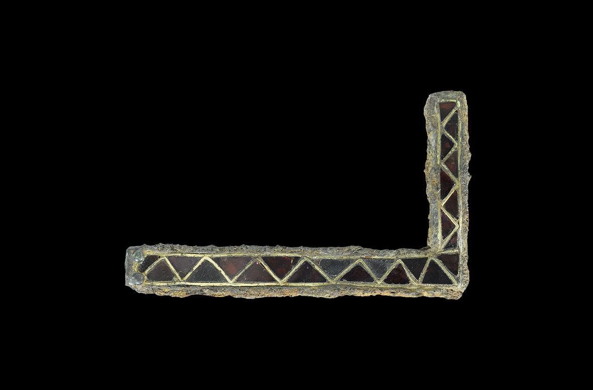 Merovingian Frankish Gold and Garnet Sword Sheath Mount
