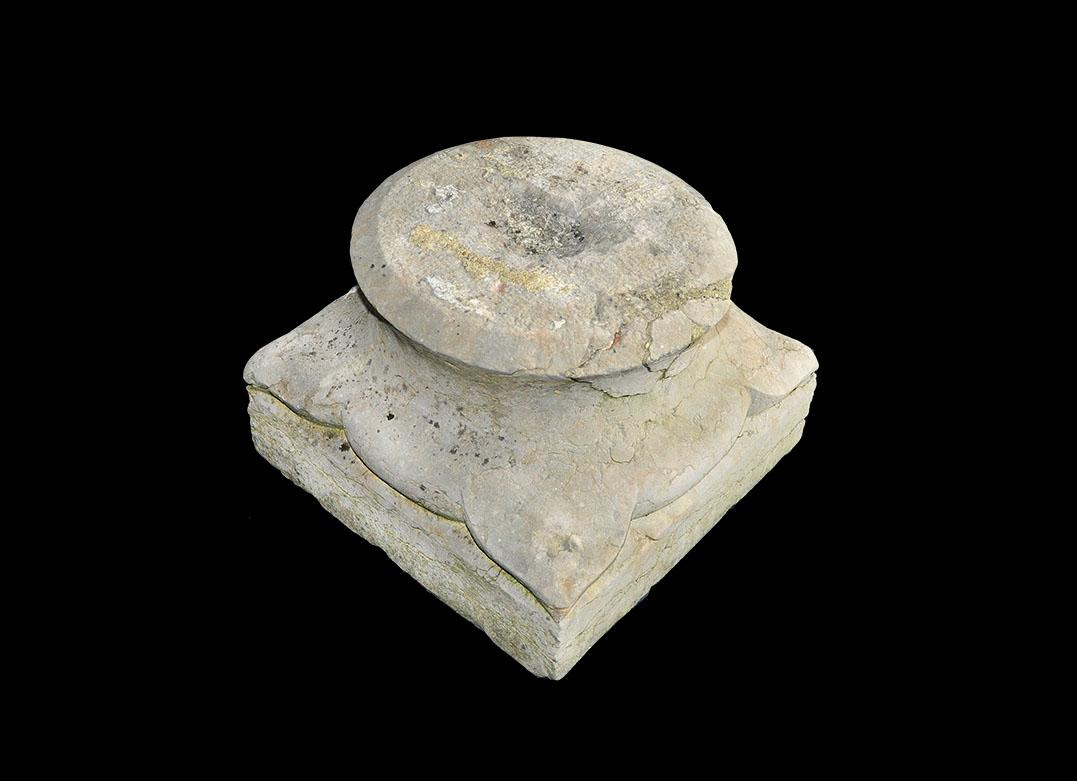 Post Medieval Limestone Pillar Base