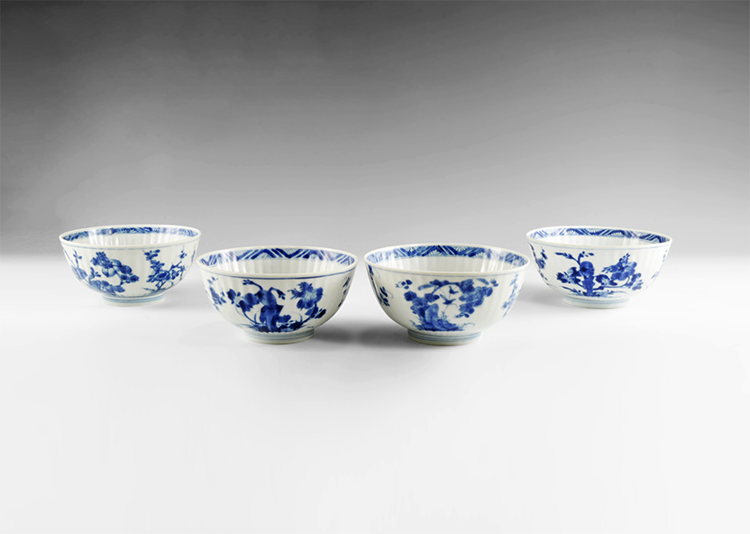 Chinese Blue and White Export Ware Bowl Group
