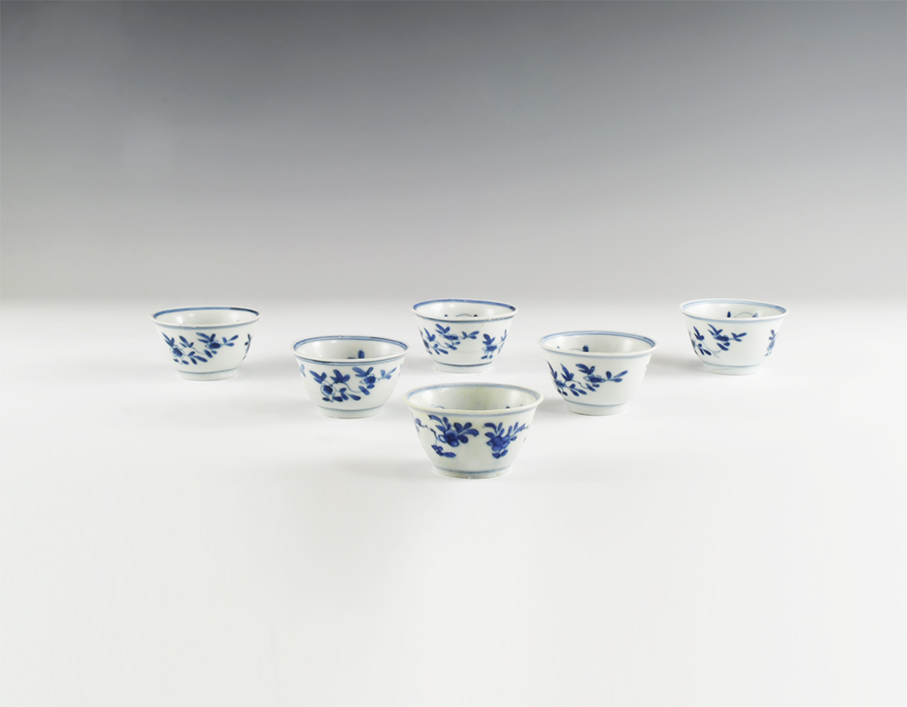Chinese Blue and White Export Ware Bowl Set