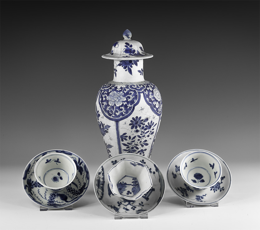Chinese Blue and White Export Ware Group