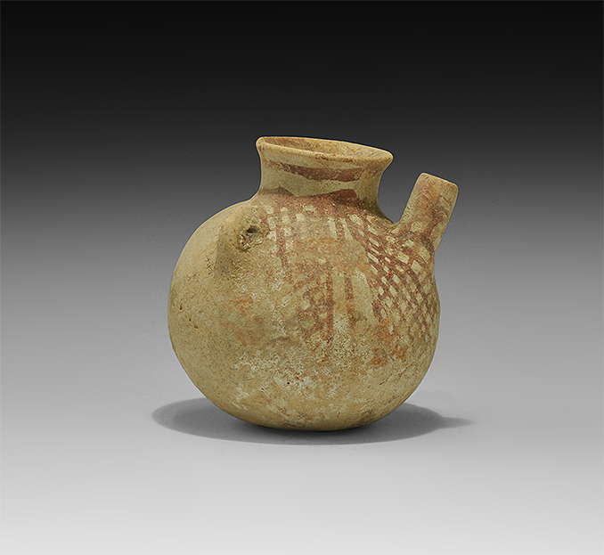 Western Asiatic Net-Painted Spouted Vessel