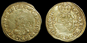 Charles I - Gold Crown - Tower Mint - Tun