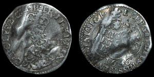 Charles I - Oxford Groat - 1646/5