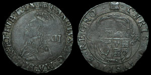 Charles I - Tower Shilling - Portcullis