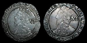 Charles I - Tower Shillings (2) - Star