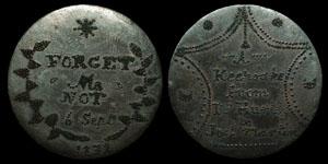George III - Cartwheel Penny - Prison Art - Convict Token