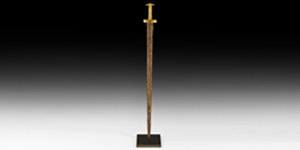 Viking Period Sword with Gold Cross Guard