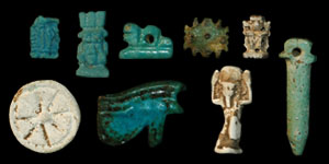 Egypt - Eight Amulets and One Seal