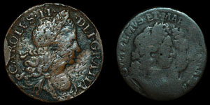 Ireland - Charles II and William and Mary - Halfpennies - 1680, 1693