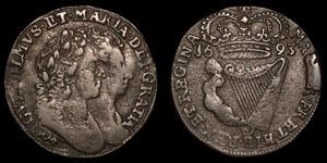Ireland - William and Mary - Halfpenny - 1693