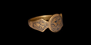 Anglo-Saxon Gold Ring for Queen Aethelburh