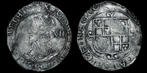 Charles I - Tower Shilling - Sun
