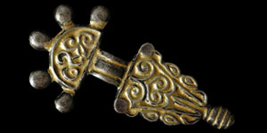Early Medieval - Gothic - Silver-Gilt Bow Brooch