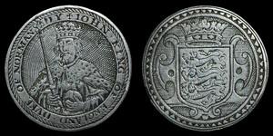 van der Passe - Silver Card Counter - King John