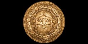 Western Asiatic Elamite Gold Hero Roundel