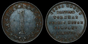 British Workman Public House Company Token