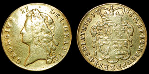 George II - Gold Two Guineas - 1738