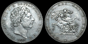 George III - Crown - 1819 (LIX)