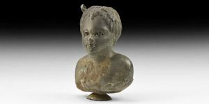 Roman African Boy Balsamarium