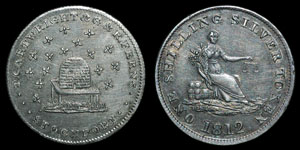 Stockport - Token Shilling - 1812 - 16 Bees