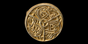 Viking Gilt Silver Box Brooch