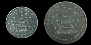 Stockport - Token Shilling and Sixpence - 1812 - 15 Bees