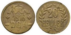 World Coins - German East Africa - 1916 T - Tabora 20 Heller