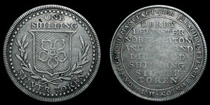 Leicester - Silver Token Shilling - Doubled S Punch in SILVER
