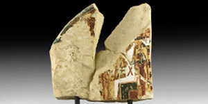 Egyptian Ramesside Painted Stele Fragment