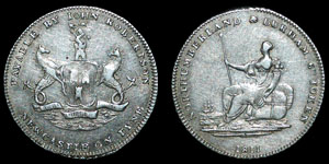 Newcastle - Silver Token Sixpence - 1811