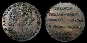 Middlesex - Token Halfpenny - Louis XV  and Marie Antoinette - 1793