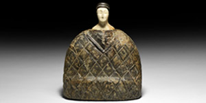 Western Asiatic Large Seated Princess Idol