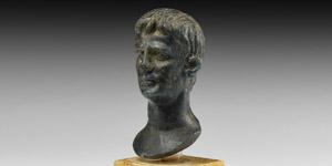 Roman Glass Bust of Augustus