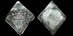 Charles I - Newark Siege Ninepence - 1645 - NEWARKE
