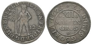 World Coins - German States - Brunswick-Luneburg-Calenburg - 1675 - 12 Mariengroschen (1/3 Thaler)