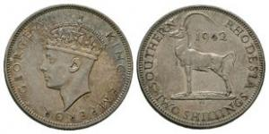 World Coins - Southern Rhodesia - 1942 - 2 Shillings