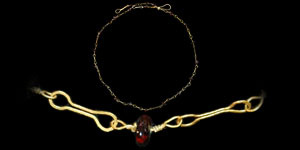 Roman - Gold and Garnet Bead Necklace