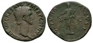 Ancient Roman Imperial Coins - Nerva - Fortuna As