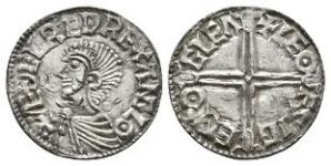 Anglo-Saxon Coins - Aethelred II - Gloucester / Leofsige - Long Cross Penny