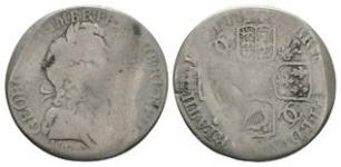 English Milled Coins - George I - 1723 WCC - Shilling