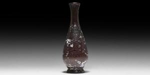 Abbasid Engraved Glass Bottle