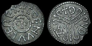British Anglo-Saxon - Mercia - Coenwulf - Tribrach Penny - Dudda