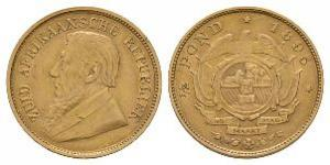 World Coins - South Africa - Republic - 1895 - Gold Half Pond